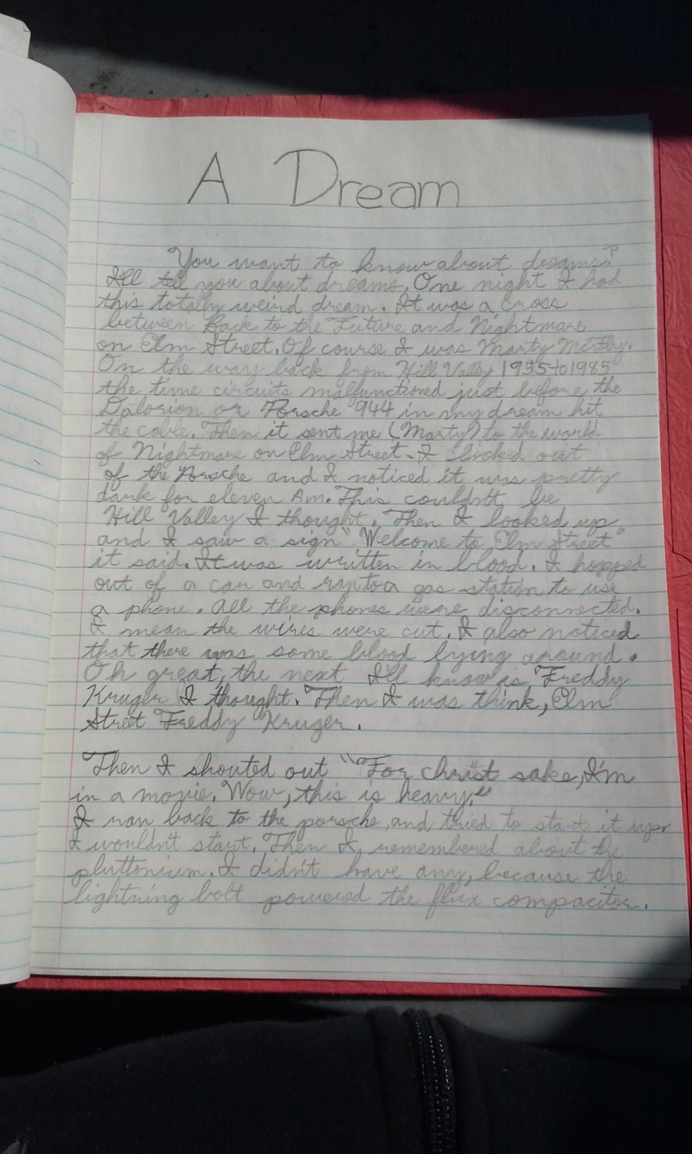 Dream Page 1